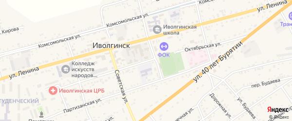 Октябрьская улица на карте села Иволгинск с номерами домов