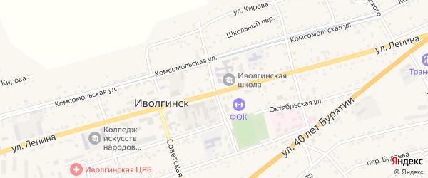 Пионерская улица на карте села Иволгинск с номерами домов