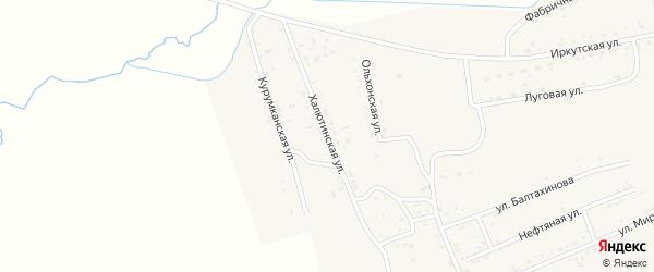 Халютинская улица на карте села Иволгинск с номерами домов