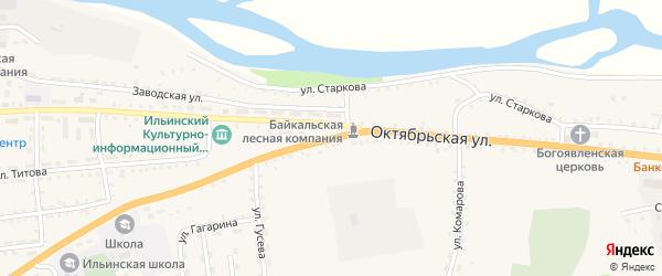 Октябрьская улица на карте села Ильинки с номерами домов