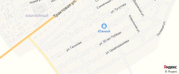 Улица Гаськова на карте села Иволгинск с номерами домов