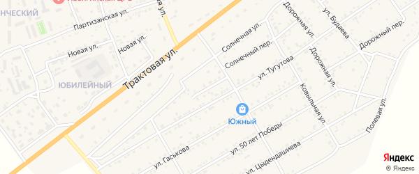 Советский переулок на карте села Иволгинск с номерами домов