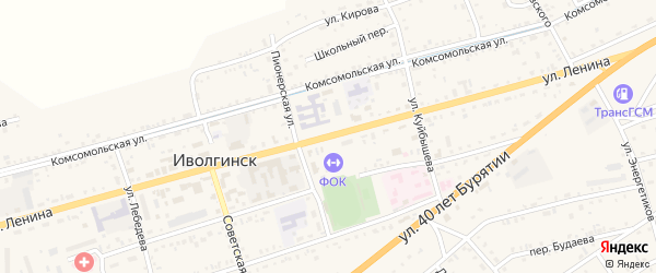 Улица Ленина на карте села Иволгинск с номерами домов