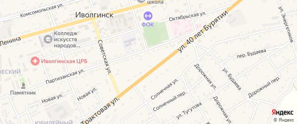Дачная улица на карте территории ДНТ Янтаря с номерами домов