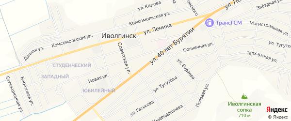 Территория ДНТ Халюта на карте села Иволгинск с номерами домов