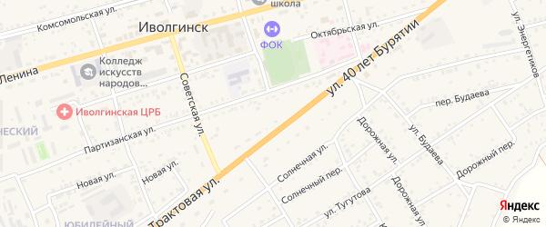 Юбилейный переулок на карте села Иволгинск с номерами домов