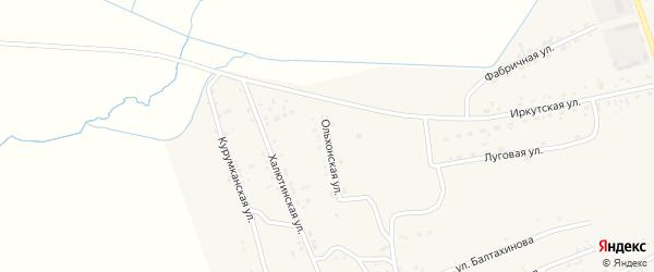 Ольхонская улица на карте села Иволгинск с номерами домов