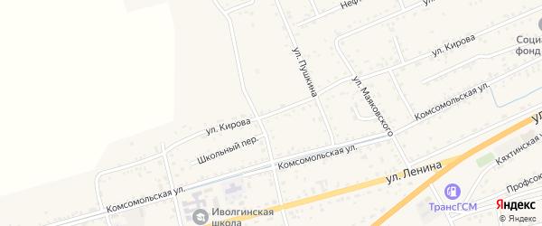 Улица Кирова на карте села Иволгинск с номерами домов