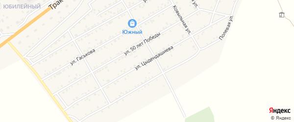 Улица Цыдендашиева на карте села Иволгинск с номерами домов