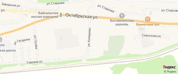 Улица Комарова на карте села Ильинки с номерами домов