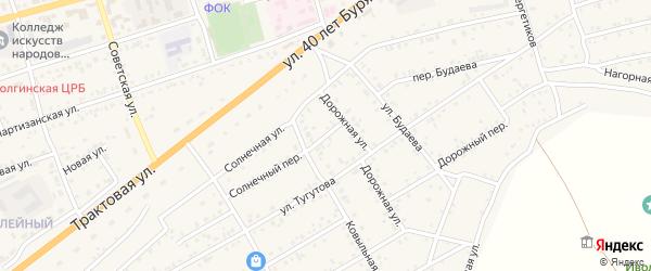 Ковыльный переулок на карте села Иволгинск с номерами домов