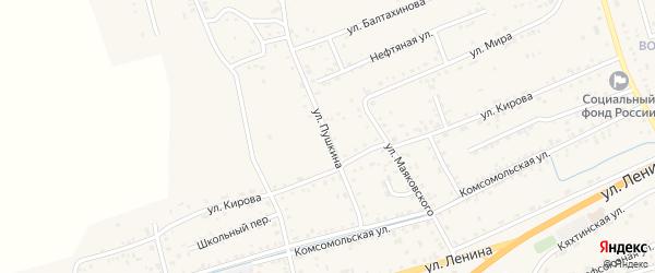 Улица Пушкина на карте села Иволгинск с номерами домов