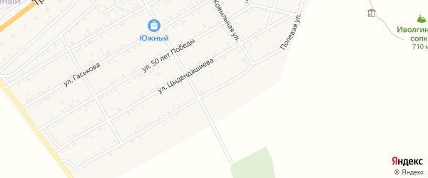 Полевая улица на карте села Иволгинск с номерами домов