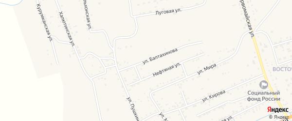 Улица Балтахинова на карте села Иволгинск с номерами домов