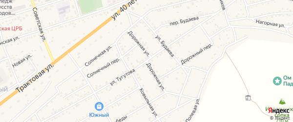 Дорожная улица на карте села Иволгинск с номерами домов