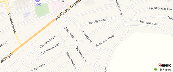 Улица Будаева на карте села Иволгинск с номерами домов