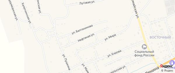 Нефтяная улица на карте села Иволгинск с номерами домов