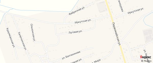Луговая улица на карте села Иволгинск с номерами домов