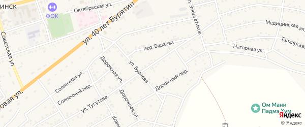 Улица Тугутова на карте села Иволгинск с номерами домов