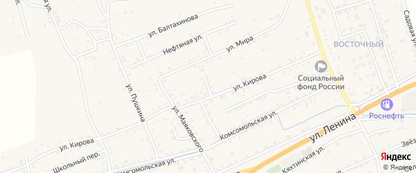 Кировский переулок на карте села Иволгинск с номерами домов