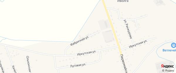 Фабричная улица на карте села Иволгинск с номерами домов