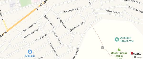 Дорожный переулок на карте села Иволгинск с номерами домов