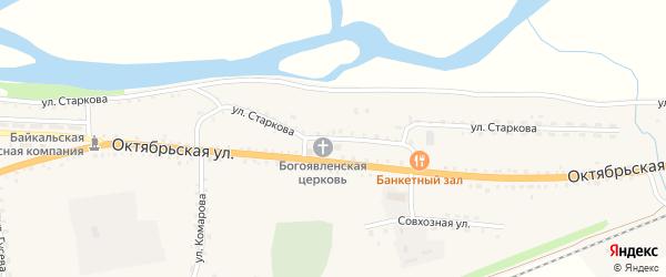 Улица Старкова на карте села Ильинки с номерами домов