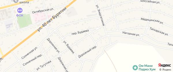 Переулок Тугутова на карте села Иволгинск с номерами домов