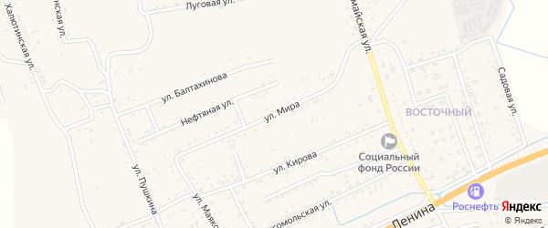 Улица Мира на карте села Иволгинск с номерами домов