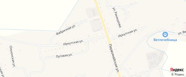 Иркутская улица на карте села Иволгинск с номерами домов