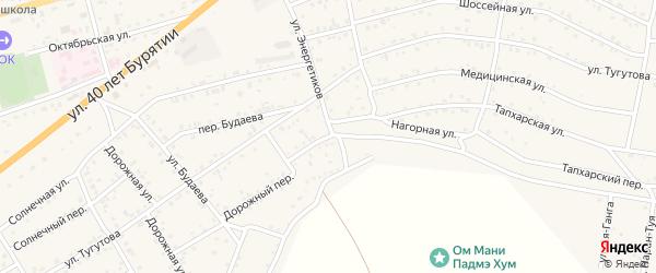 Переулок Энергетиков на карте села Иволгинск с номерами домов