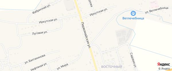 Первомайская улица на карте села Иволгинск с номерами домов