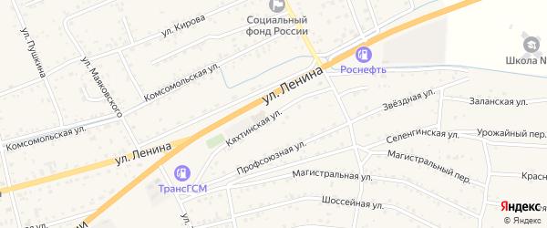 Кяхтинская улица на карте села Иволгинск с номерами домов