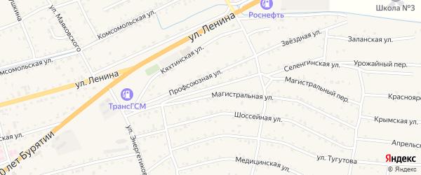 Улица Дружбы на карте села Иволгинск с номерами домов