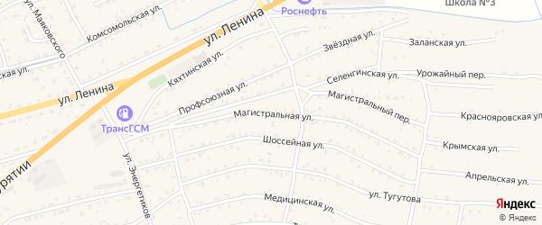 Магистральная улица на карте села Иволгинск с номерами домов