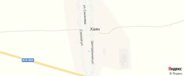 Центральная улица на карте улуса Хаян с номерами домов
