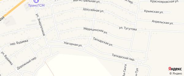 Тапхарская улица на карте села Иволгинск с номерами домов