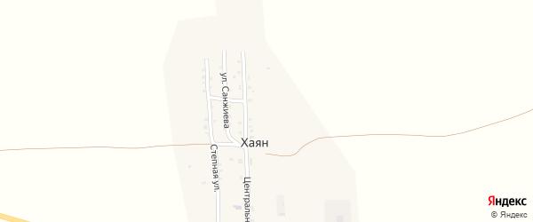 Степная улица на карте улуса Хаян с номерами домов
