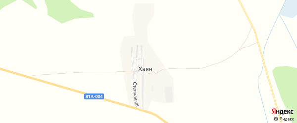 Карта улуса Хаян в Бурятии с улицами и номерами домов