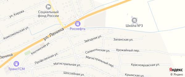 Звездная улица на карте села Иволгинск с номерами домов