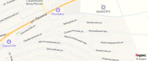 Селенгинская улица на карте села Иволгинск с номерами домов