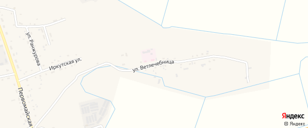 Улица Ветлечебница на карте села Иволгинск с номерами домов