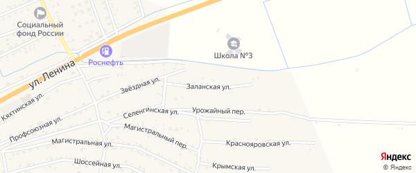 Заланская улица на карте села Иволгинск с номерами домов