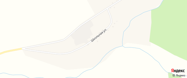 Школьная улица на карте села Хандагатая с номерами домов