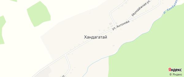 Улица Антонова на карте села Хандагатая с номерами домов