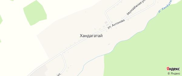 Молодежная улица на карте села Хандагатая с номерами домов