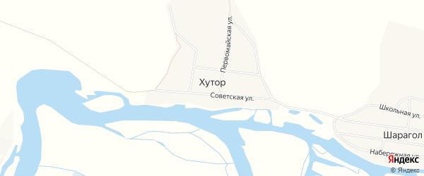 Карта села Хутора в Бурятии с улицами и номерами домов