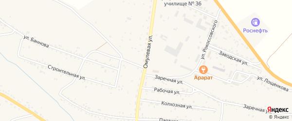 Омулевая улица на карте села Тарбагатая с номерами домов