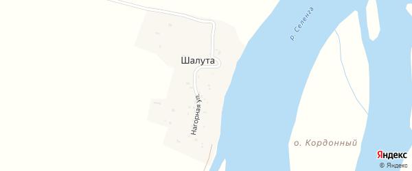 Нагорная улица на карте поселка Шалуты с номерами домов