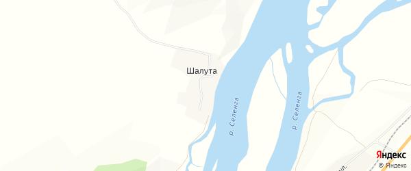 Карта поселка Шалуты в Бурятии с улицами и номерами домов